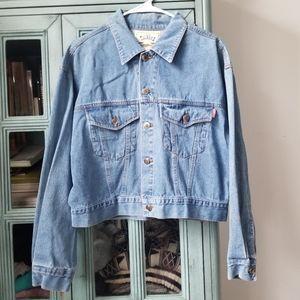 Vintage Oversized Denim Jacket cropped